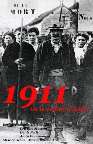 affiche theatre 1911 le cahier adele